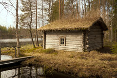 Old smoked sauna, Finland Royalty Free Stock Photography