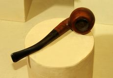 Old smoking pipe displayed in the museum. At vellore castle, tamilnadu, india Stock Images