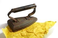 Old smoothing-iron Stock Photo