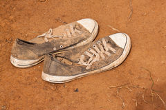 Old sneaker Royalty Free Stock Photos