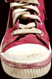 Old Sneakers. Close up of a sport shoe Stock Photography