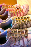 Old Sneakers. Two pairs of old and used girl sneakers Stock Images