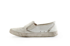 Old sneakers : Clipping path included. stock photo