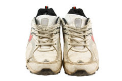 Old sneakers isolated on white Royalty Free Stock Photography