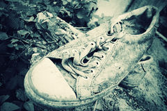 Old sneakers Royalty Free Stock Images
