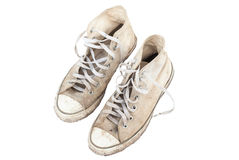 Old sneakers . Royalty Free Stock Images