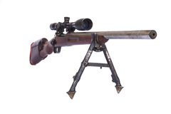 Old Sniper Rifle barrel Royalty Free Stock Photography
