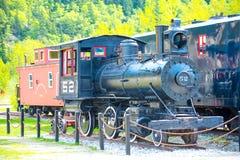 Old snow blower train at Skagway, Alaska Stock Image