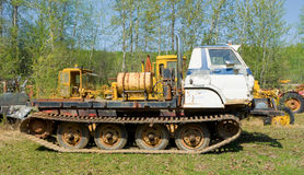 An old snow-cat on display at fort nelson, bc Royalty Free Stock Photos