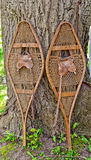 Old snow shoes Stock Photos