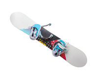 Old snowboard isolated. On a white backrgound royalty free stock image