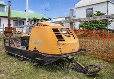 Old SnowMobile on Falkland Island Royalty Free Stock Photos