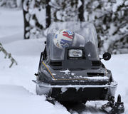 Old snowmobile Royalty Free Stock Images