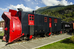 OLD SNOWPLOUGH TRAIN SKAGWAY ALASKA Royalty Free Stock Photo