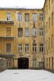 An old courtyard in Vilnius, Lithuania Royalty Free Stock Images