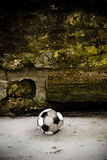 Old soccer ball Stock Photo