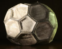 Old soccer ball Royalty Free Stock Photos