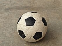 Old soccer ball Royalty Free Stock Images