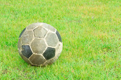 Old soccer ball Stock Image