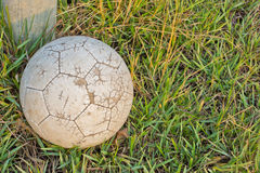 Old Soccer Ball. Royalty Free Stock Photo