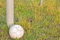 Old Soccer Ball. Royalty Free Stock Photography