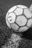 Old soccer ball in Black & White Stock Photos