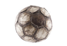 Old soccer ball Stock Photography