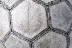 Old soccer ball closeup Stock Photos