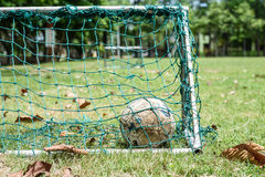 Old soccer ball Royalty Free Stock Photography