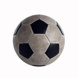 Old Soccer ball in the studio stock image