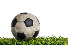 Old Soccer ball in the studio Royalty Free Stock Images