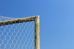 Old soccer goal Royalty Free Stock Photos