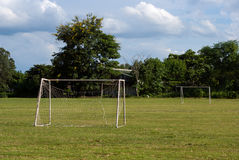 Old soccer goal Stock Image
