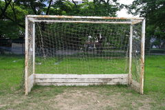 Old soccer goal Stock Images