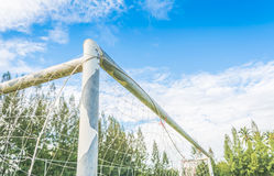 old soccer goal Royalty Free Stock Images