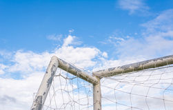 Old soccer goal Stock Photo