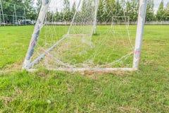 Old soccer goal Stock Photos