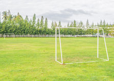 Old soccer goal Royalty Free Stock Photography