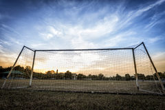 Old soccer goal Royalty Free Stock Photo