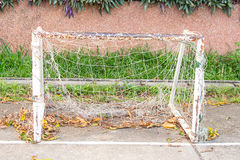 Old soccer goal Royalty Free Stock Image