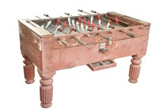 Old soccer table Royalty Free Stock Photography
