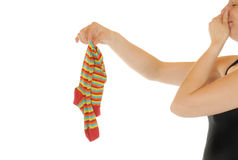 Old sock Royalty Free Stock Images