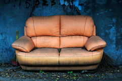 Abandoned sofa  Royalty Free Stock Image