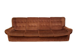 Old sofa. An old sofa on white background Stock Photography