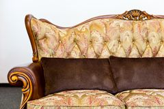Old sofa armrest Royalty Free Stock Image