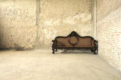 Old sofa. It has a warmth warmth is something to remember Stock Photos