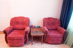 Old soft armchair Stock Photography