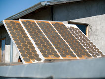 Old solar panel from 1970's Royalty Free Stock Photos