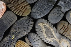 old soled shoes Stock Photography