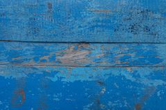 Old Solid Wood Slats Rustic Shabby blue Background royalty free stock images
